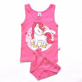 Комплект для девочки Единорог, розовый