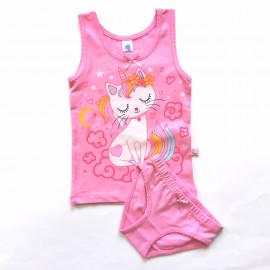Комплект для девочки Кошечка, розовый
