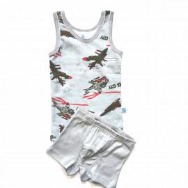 Комплект для мальчика Самолеты, серый