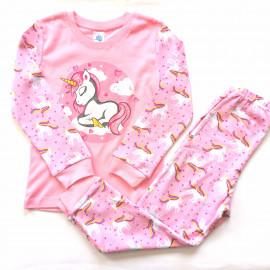 Пижама для девочки Единорог, розовый