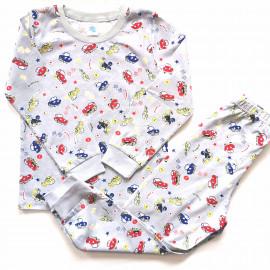 Пижама для мальчика Гонки, серый