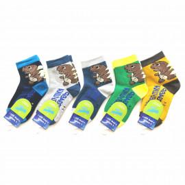 Носки для мальчиков светящиеся Дино, микс