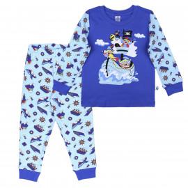 Пижама для мальчика Веселые пираты, синий