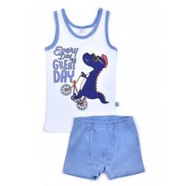 Комплект для мальчика Дино, голубой