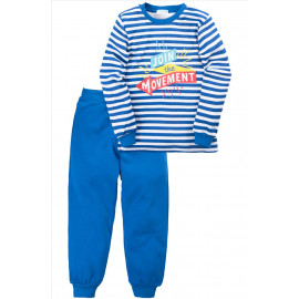 Пижама для мальчика Надпись, темно-синий