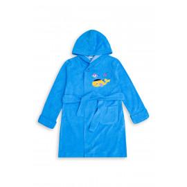 Халат банный для мальчика Китенок, ярко-голубой