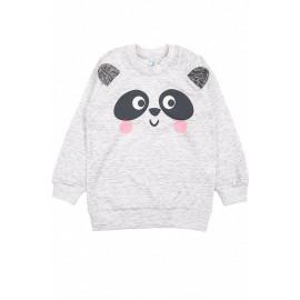 Джемпер для девочки Панда, серый
