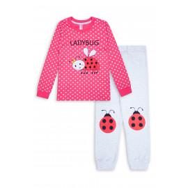 Пижама для девочки Коровка, коралловый