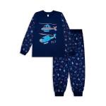 Пижама для мальчика Вертолет, темно-синий
