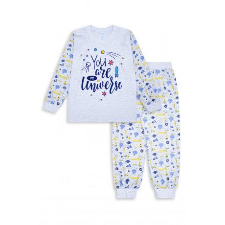 Пижама для мальчика Космос, серый