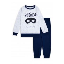 Пижама для мальчика Супергерой, серый
