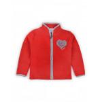 Толстовка флисовая однотонная Сердце, красный