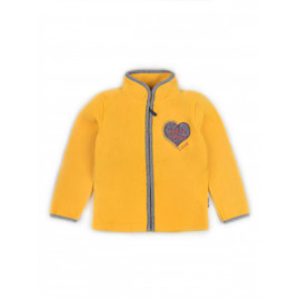 Толстовка флисовая однотонная Сердце, желтый