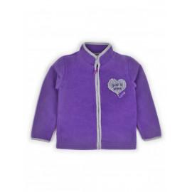 Толстовка флисовая однотонная Сердце, фиолетовый