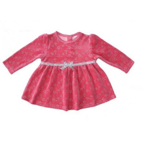 Платье велюровое для девочки, темно-розовый
