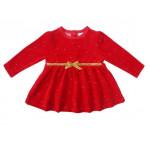 Платье велюровое для девочки, красный