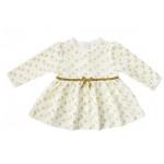 Платье велюровое для девочки, молочный