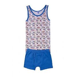 Комплект для мальчика Грузовички, синий