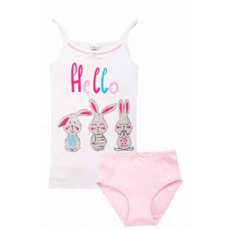 Комплект для девочки Зайки, розовый