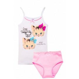Комплект для девочки Котята, розовый