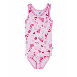 Комплект для девочки Сердечки, розовый
