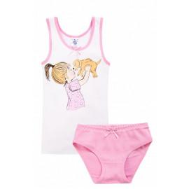 Комплект для девочки Питомец, розовый
