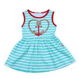 Платье для девочки Морячка, ментоловый