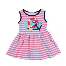 Платье для девочки Морячка, розовый