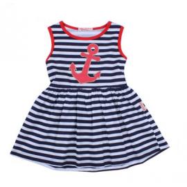 Платье для девочки Морячка, темно-синий