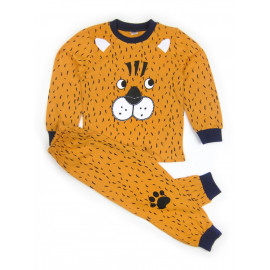 Пижама для мальчика Пес, коричневый