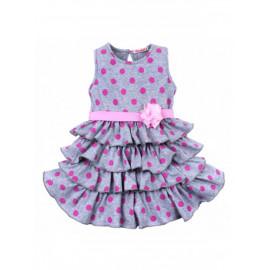 Платье для девочки Горох, меланжевый