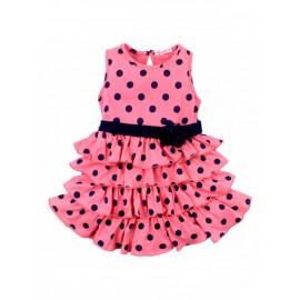Платье для девочки Горох, розовый