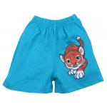 Шорты для мальчика Тигр, бирюзовый