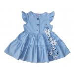 Платье сатиновое для девочки Сакура, голубой