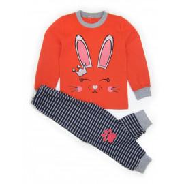 Пижама для девочки Зайка, малиновый