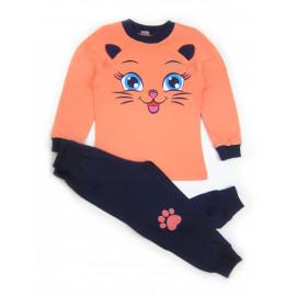 Пижама для девочки Кошечка, розовый