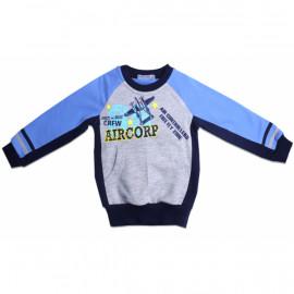 Свитшот для мальчика Самолет, голубой