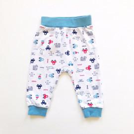 Штанишки для малышей Машинки, белый
