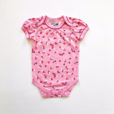 Боди для малышей Цветочки, розовый