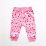 Штанишки для малышей Цветочки, розовый