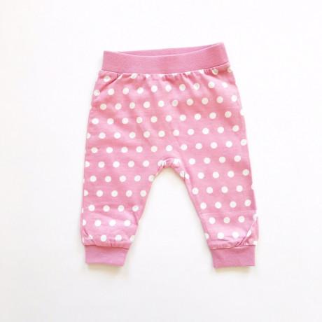 Штанишки для малышей Горох, пыльно-розовый
