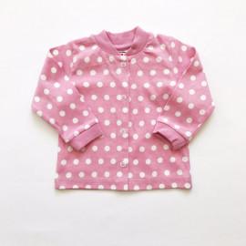 Кофточка для малышей Горох, пыльно-розовый