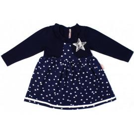 Платье для девочки Звезда, темно-синий