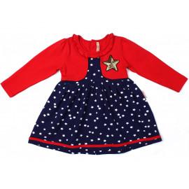 Платье для девочки Звезда, красный
