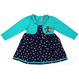 Платье для девочки Звезда, бирюзовый