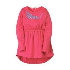 Платье для девочки с вышивкой, малиновый