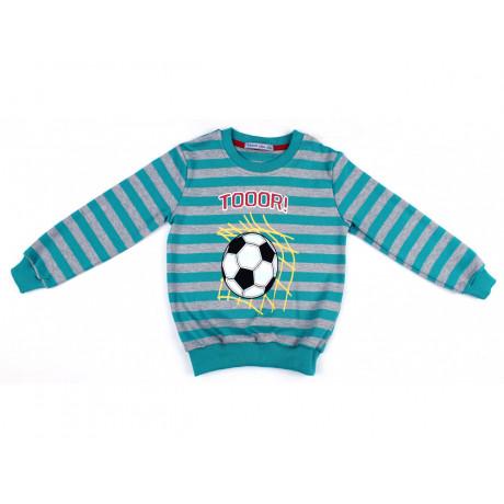 Джемпер для мальчика Футбол, изумруд