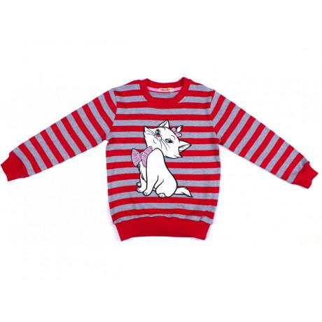 Джемпер для девочки Кошка, красный