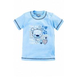 Кофточка для новорожденных с коротким рукавом Тэдди, голубой