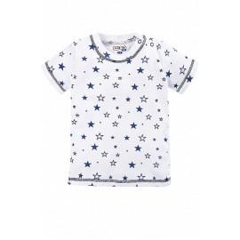 Кофточка для новорожденных с коротким рукавом Звезды, белый